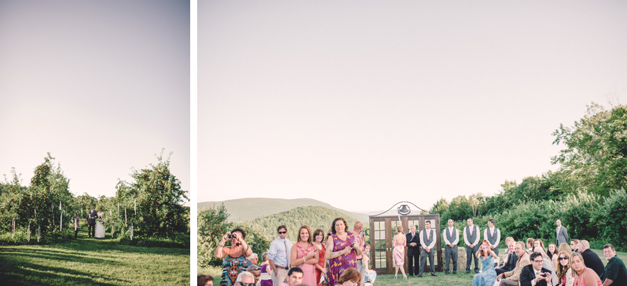 Vermont apple orchard wedding