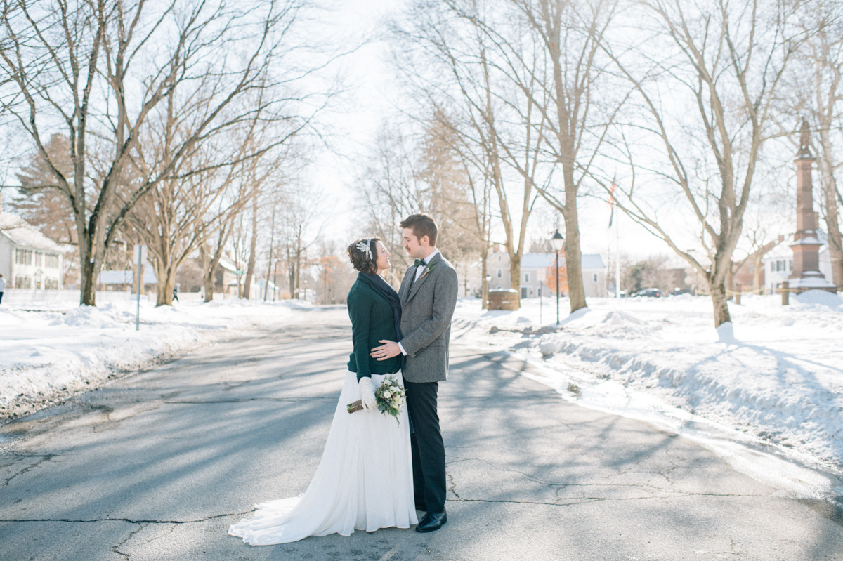 Brooke Andrew S Winter Wedding Deerfield Ma